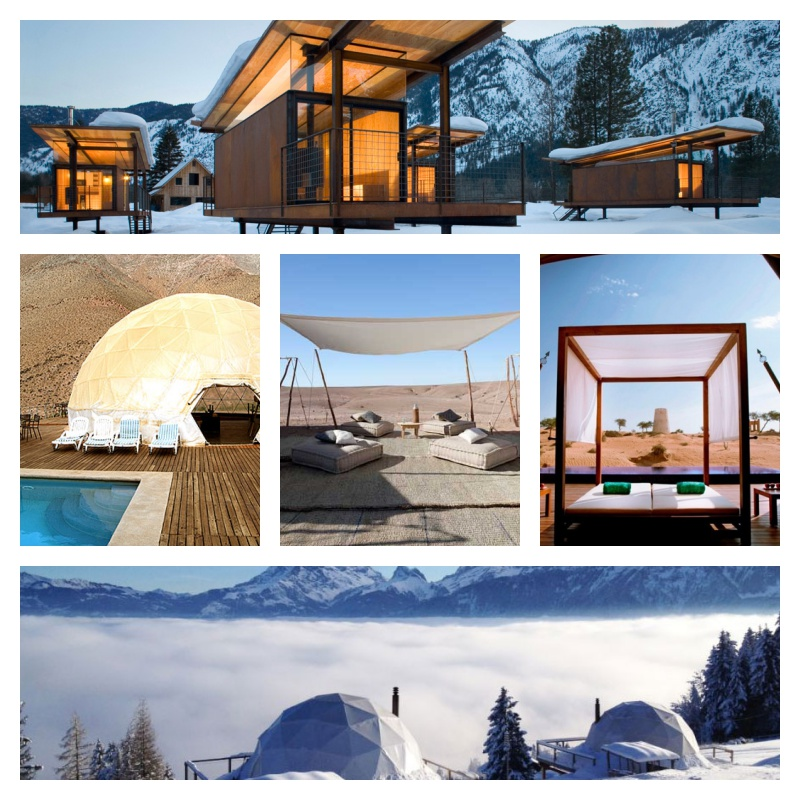 Glamping collage